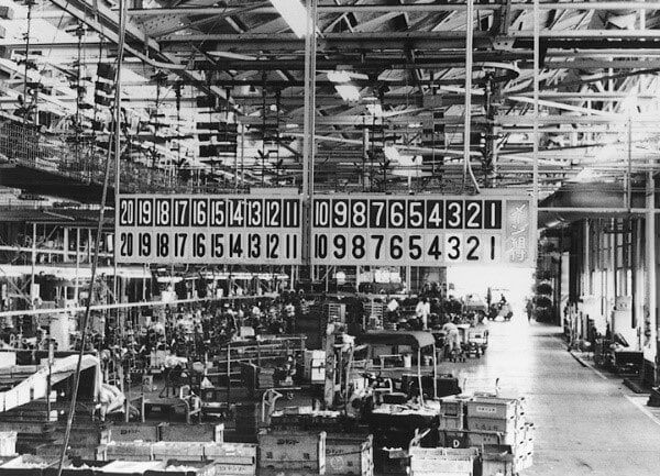 Toyota Production Floor in the 1960s