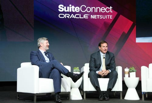 Mark Hurd and Jim Mcgeever during SuiteConnect event