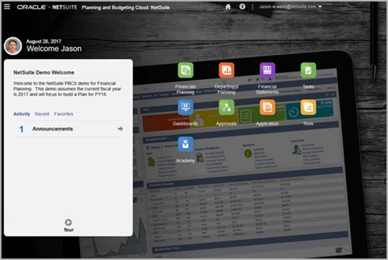 SuiteSuccess for Oracle NetSuite Planning and Budgeting