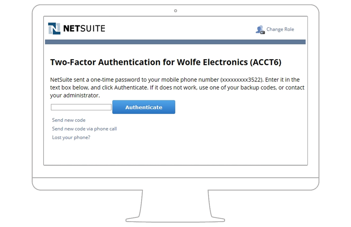 Role based authentication for Netsuite document management