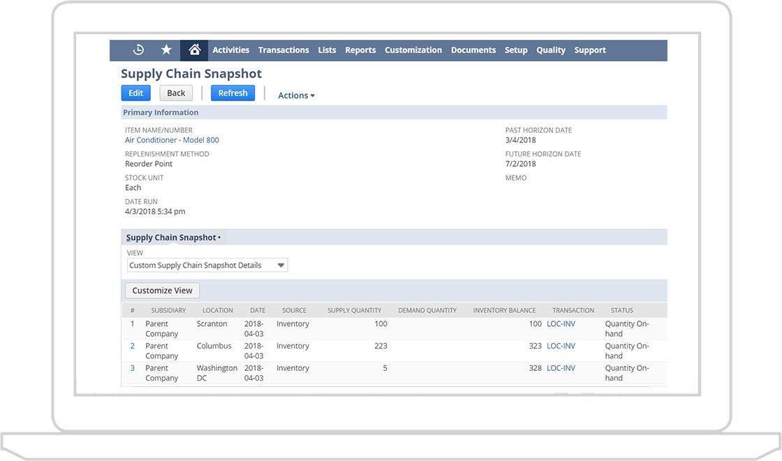 Supply Chain Planning | NetSuite