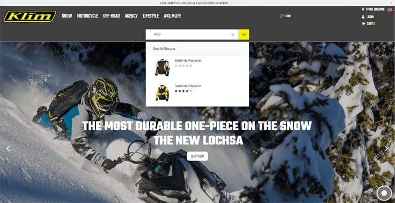 Klim starts with e-commerce site search