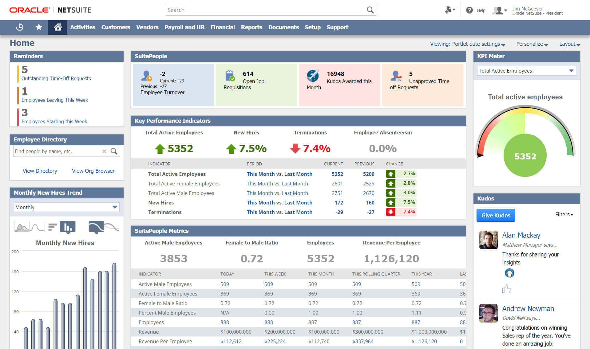 Netsuite Suitepeople For Hr Organizations