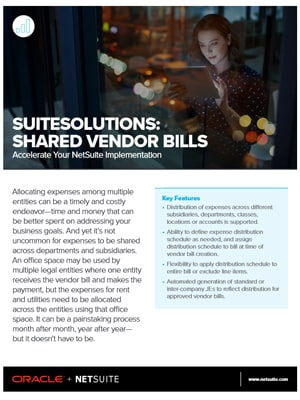 Shared Vendor Bills