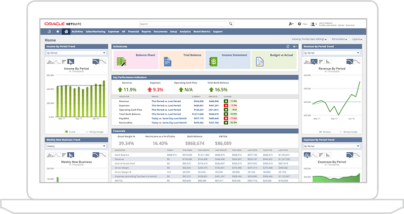 Oracle NetSuite Planning and Budgeting Dashboard