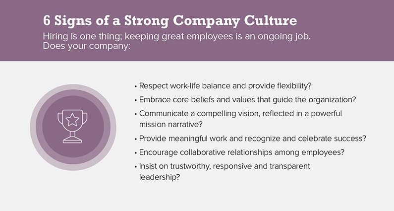 6 Signs of a Strong Company Culture